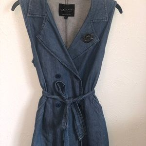 Sanctuary Denim Sleeveless Blouse